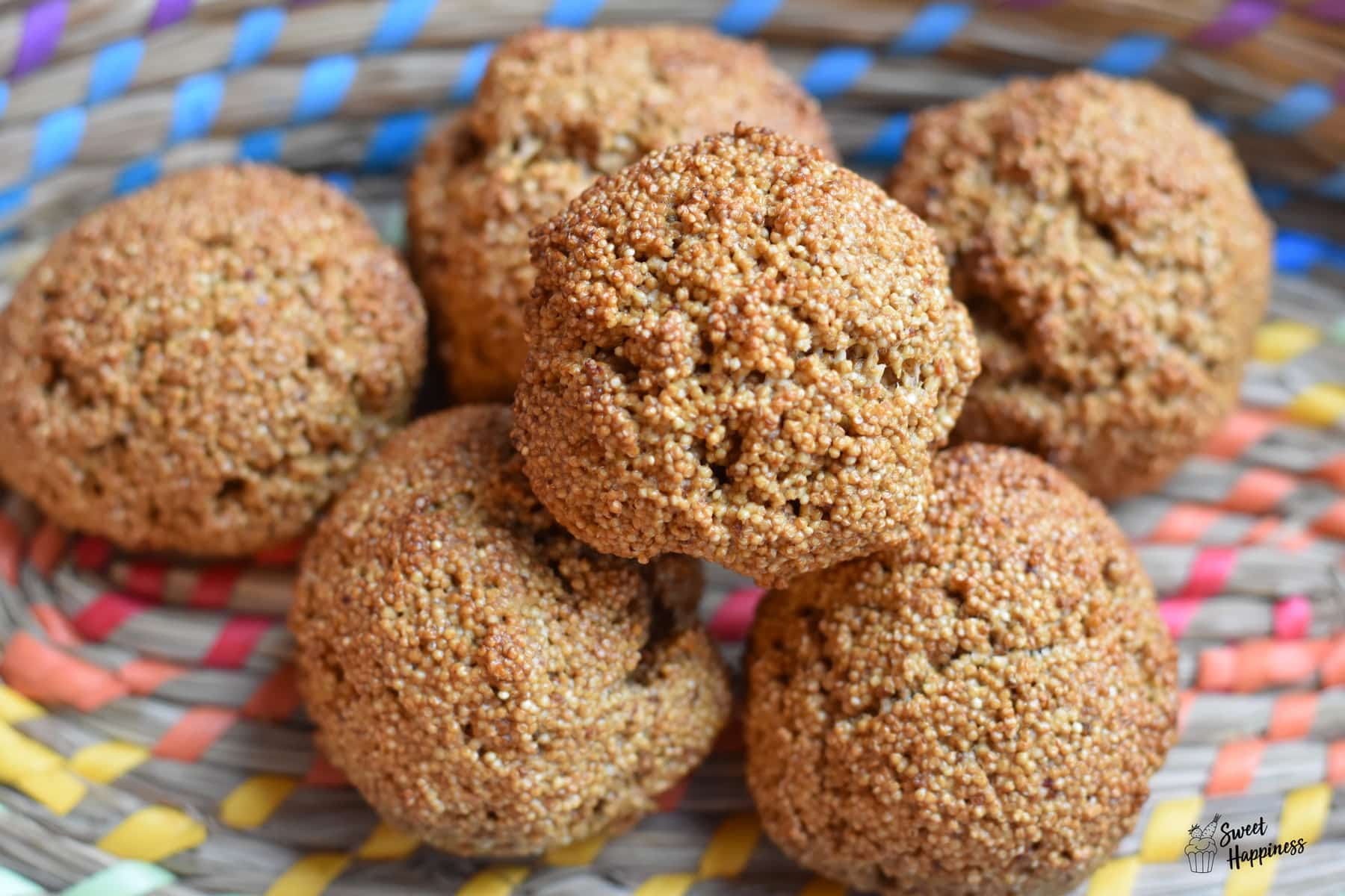 SweetHappiness: Mini Amaranth Brötchen